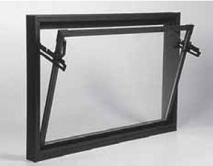 ACO sklepní celoplastové okno s IZO sklem 90 x 40 cm hnědá