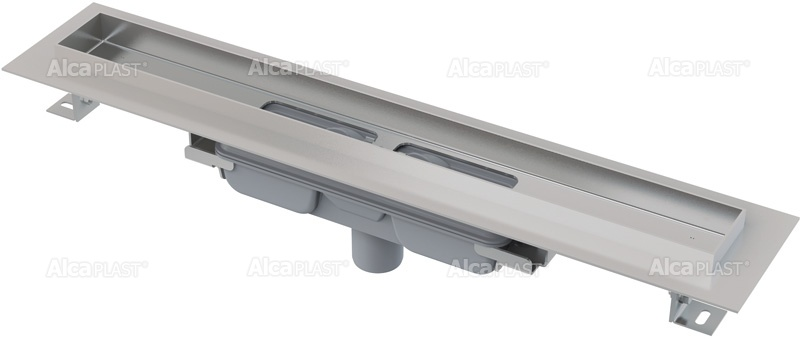ALCAPLAST Professional Low podlahový žlab s okrajem pro plný rošt, svislý odtok APZ1106-300