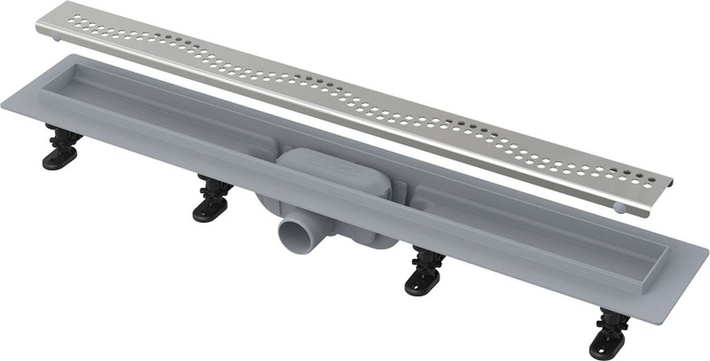 ALCAPLAST Simple Podlahový žlab s okrajem pro perforovaný rošt APZ8-750M