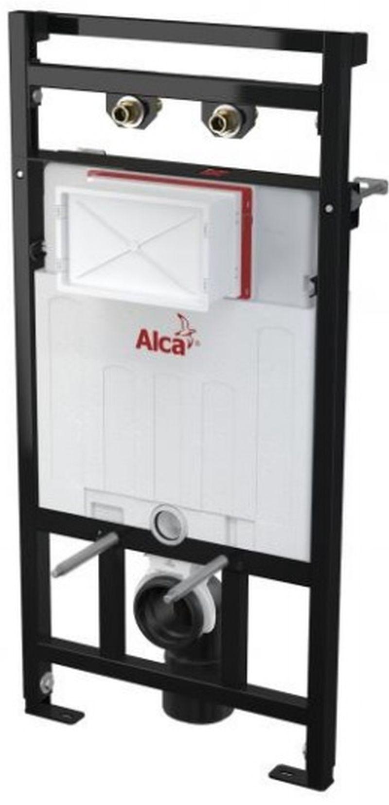 ALCAPLAST Montážní rám s nádržkou pro výlevku s odpadem DN90/110 a baterii A108F/1100
