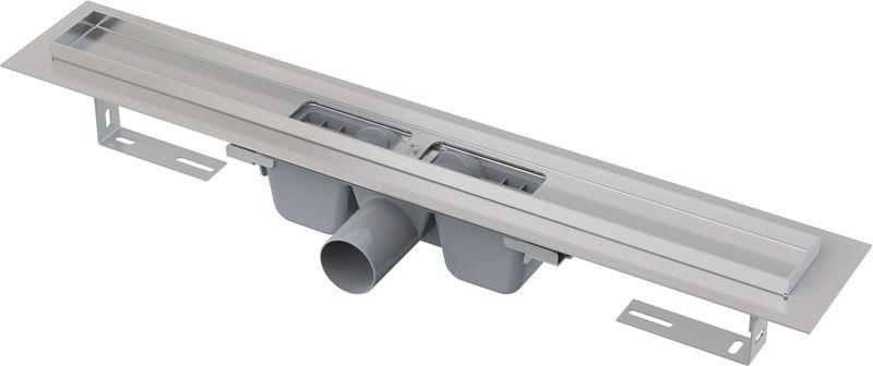 ALCAPLAST Podlahový žlab s okrajem 650 mm pro perforovaný rošt APZ1-650