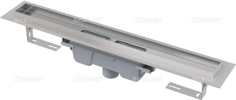 ALCAPLAST Professional podlahový žlab s okrajem pro plný rošt, svislý odtok APZ1006-1050