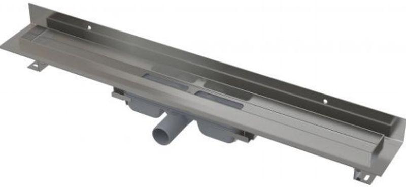 ALCAPLAST Wall Low Podlahový žlab s okrajem pro plný rošt 550mm, s pevným límcem ke stěně APZ116-550