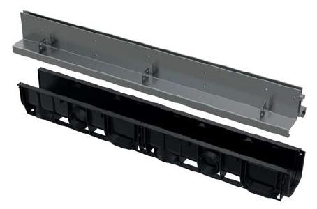 ALCAPLAST Štěrbinový venkovní žlab symetrický 100 mm z pozinkované oceli AVZ101-R123