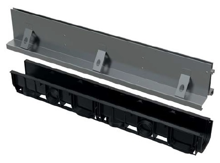 ALCAPLAST Štěrbinový venkovní žlab symetrický 160 mm z pozinkované oceli AVZ101-R124