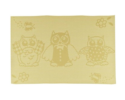 BANQUET Prostírání 45x30 cm OWL, yellow 12CGOWL005Y