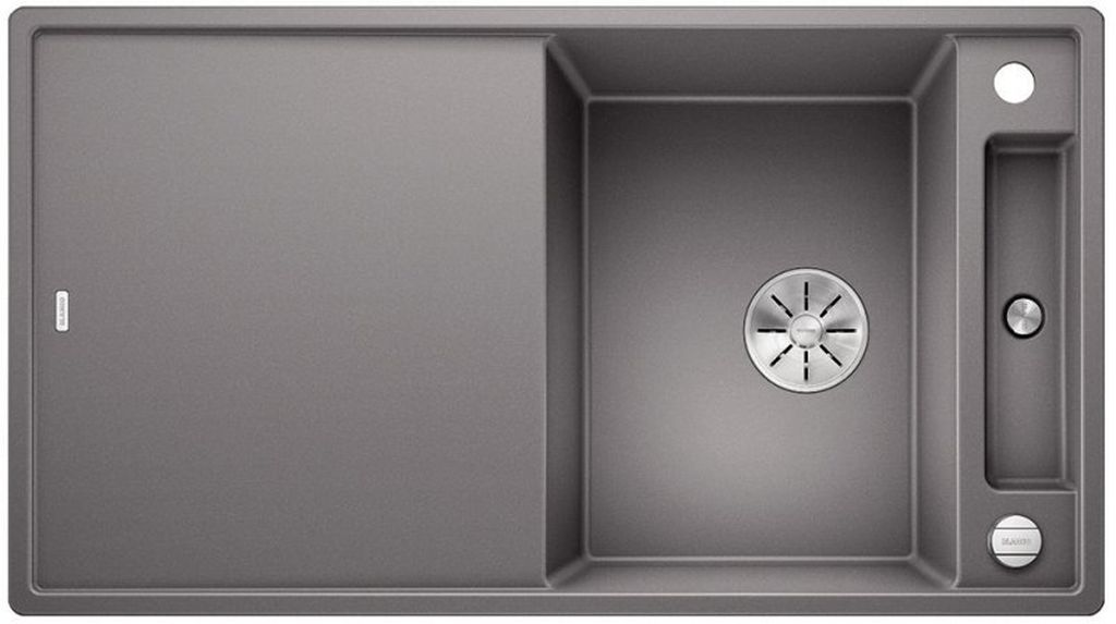 BLANCO AXIA III 5 S-F IF silgranit aluminium dřez vpravo s excentrem přísluš. sklo 523233