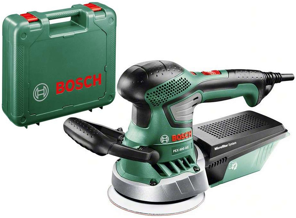 BOSCH PEX 400 AE Excentrická bruska 370 W, 125 mm 06033A4000