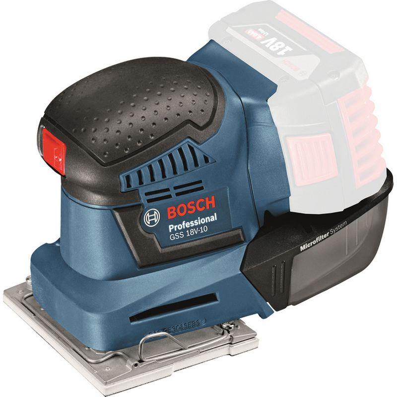 BOSCH GSS 18V-10 Jednoruční akumulátorová vibrační bruska 06019D0200