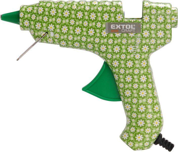 EXTOL CRAFT pistole tavná lepící, květinová, 40W, 11mm 422100