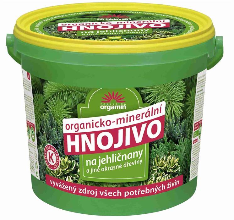 Orgamin Hnojivo na jehličnany a jiné okrasné dřeviny 10 kg