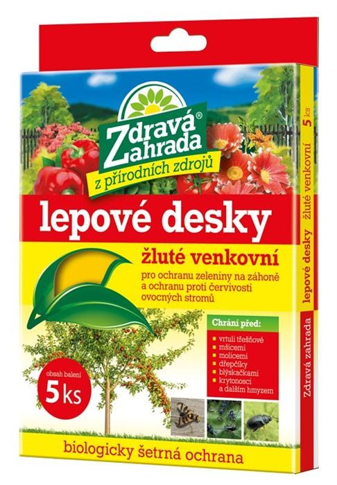 FORESTINA Zdravá zahrada - lepové desky venkovní žluté 20x15cm 5ks 1291007
