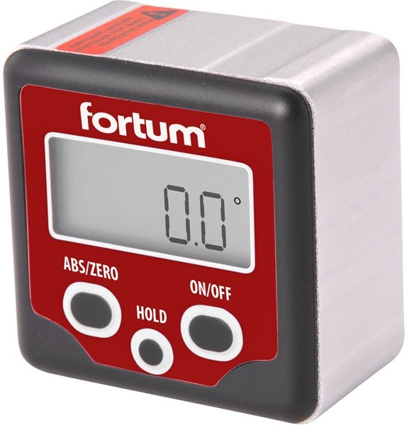 FORTUM digitální sklonoměr, s magnety. 0°-360° 4780200