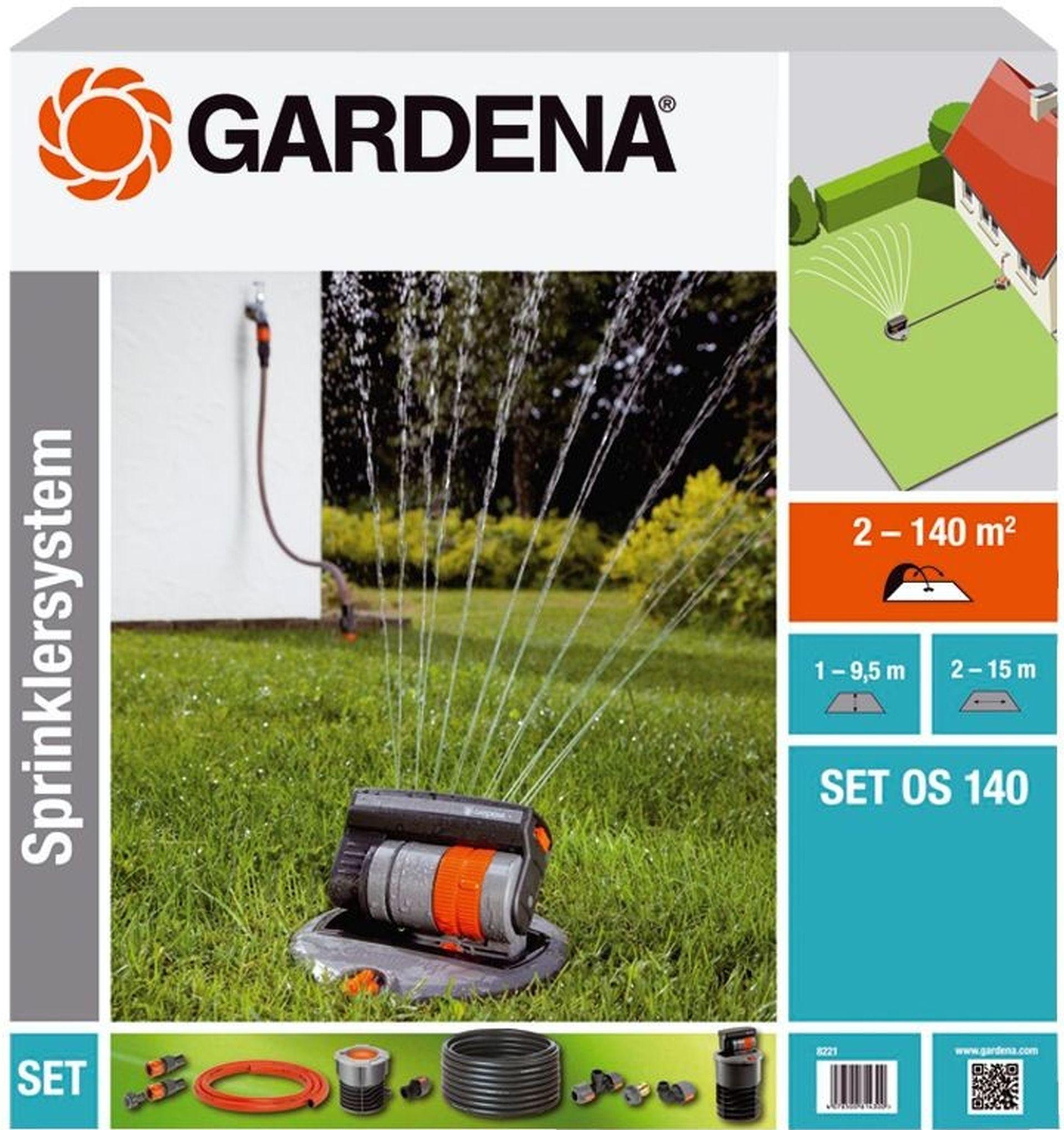 GARDENA OS140 Sada se čtyřplošným výsuvným zadešťovačem, 8221-20