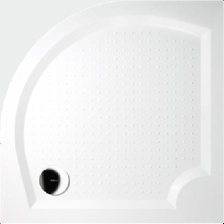GELCO G5 Viva čtvrtkruhová sprchová vanička 90 profilované dno, bílá GV559