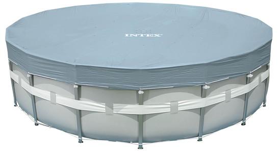 VÝPRODEJ INTEX Krycí plachta Deluxe pro bazény Frame-Pool O 549 cm 28041 POŠKOZENÝ OBAL!!