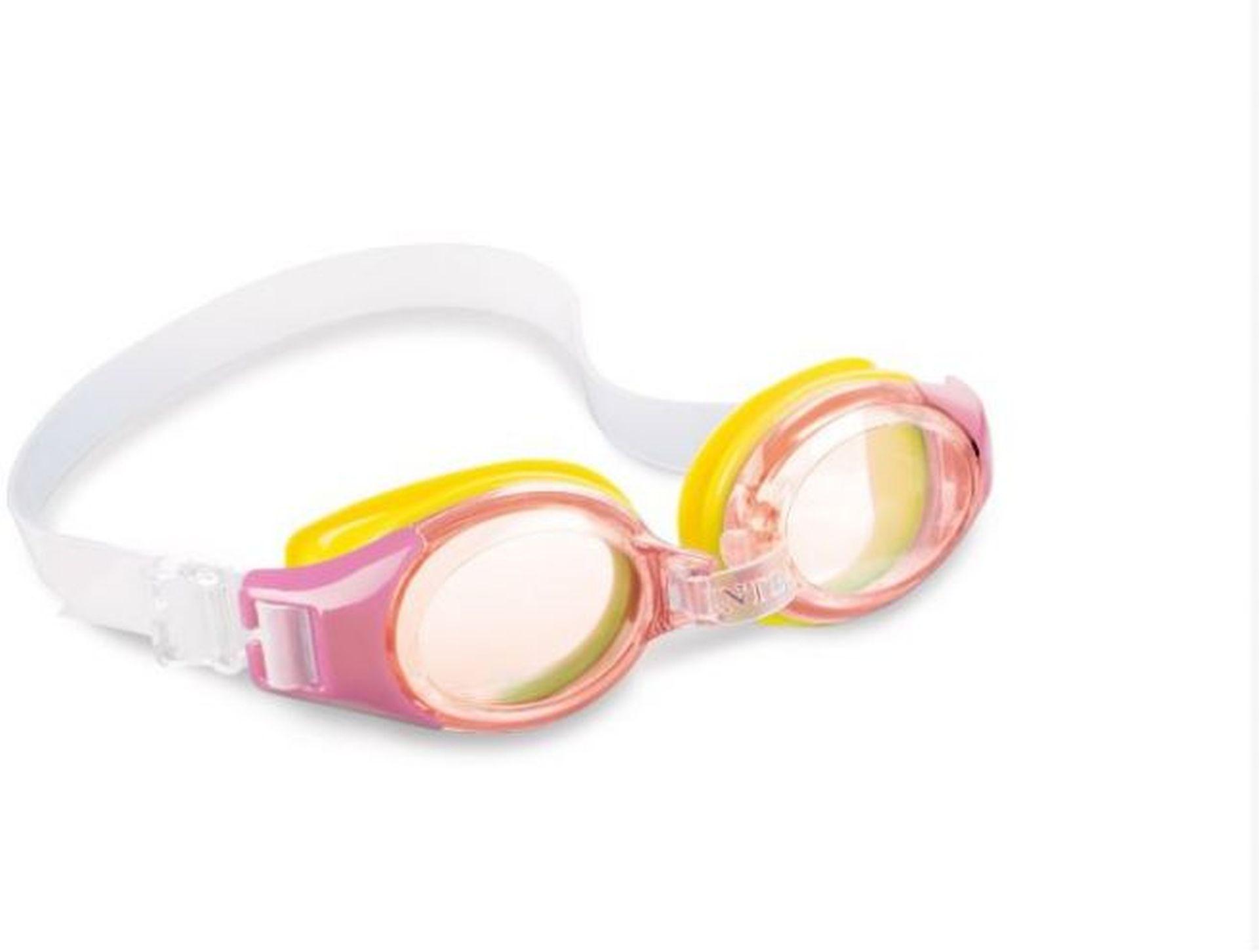 INTEX JUNIOR Plavecké brýle, růžové 55601