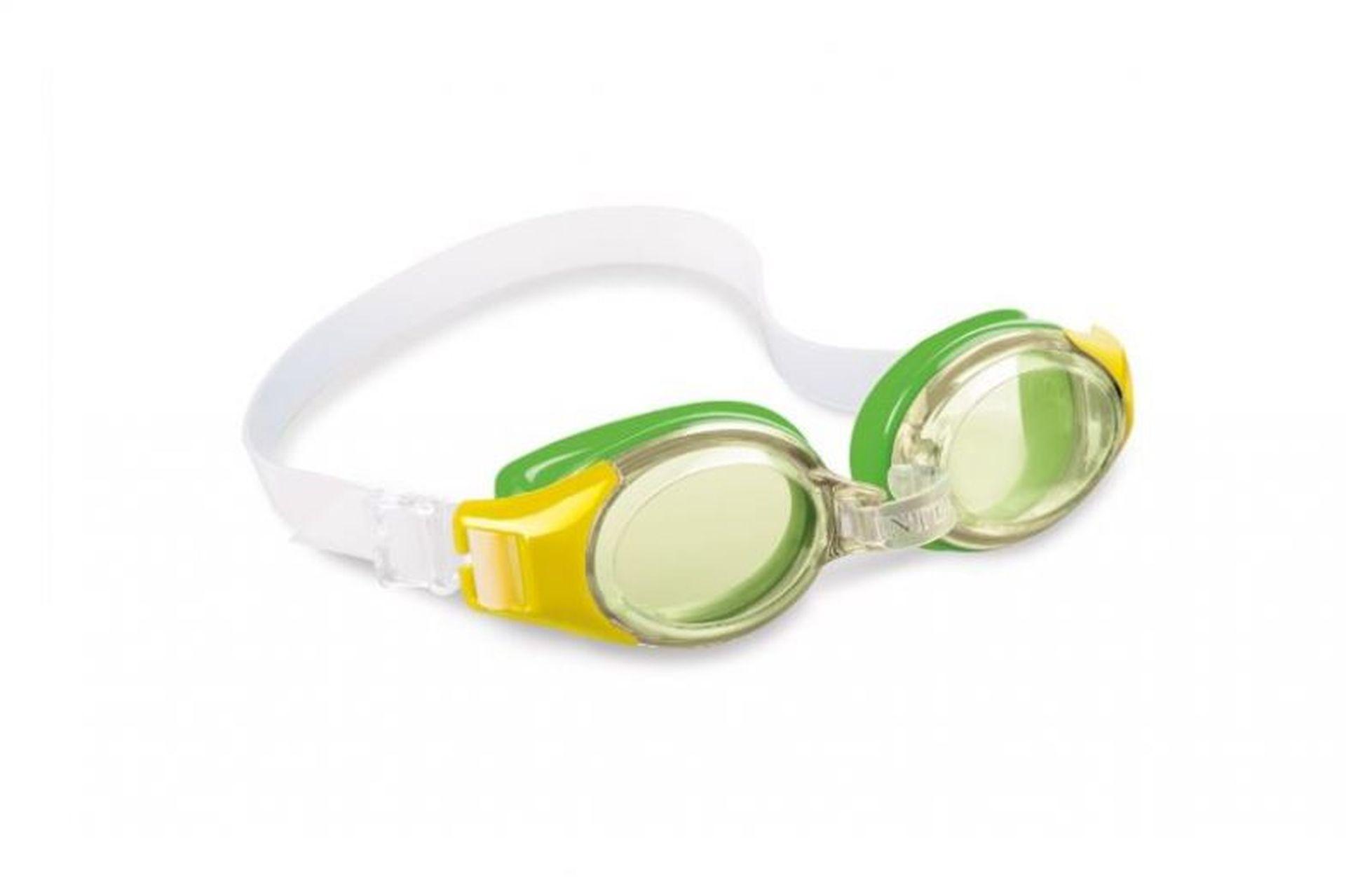 INTEX JUNIOR Plavecké brýle, žluté 55601