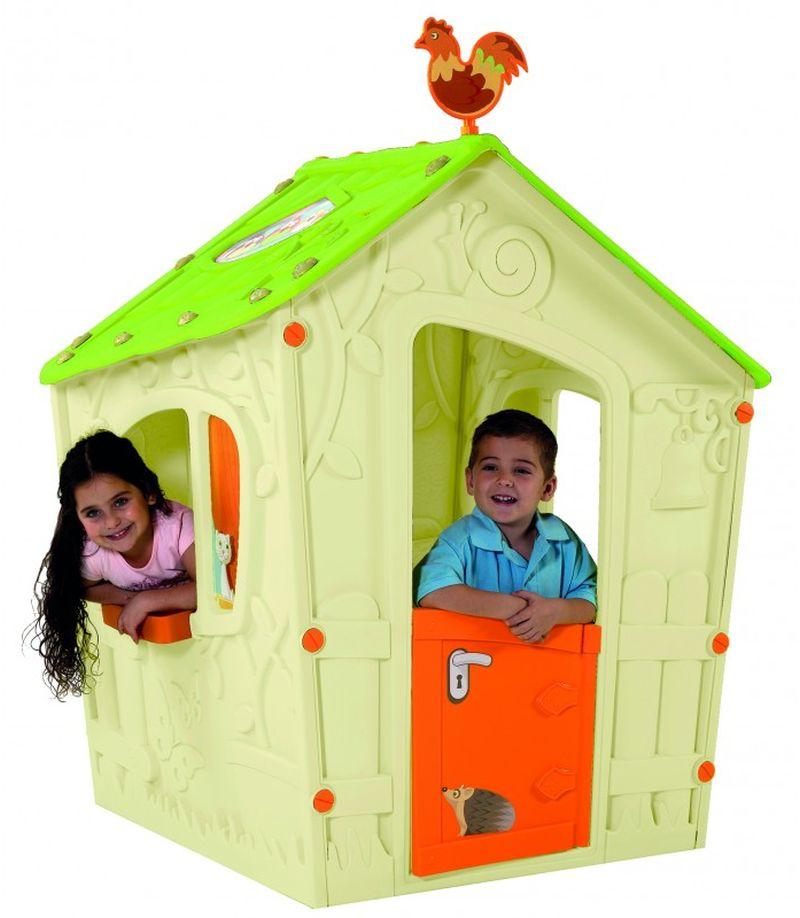 KETER MAGIC PLAYHOUSE dětský domek, krémová/oranžová/zelená 17185442