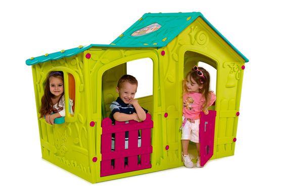 KETER MAGIC VILLA dětský domek, zelená/tyrkysová 17190655