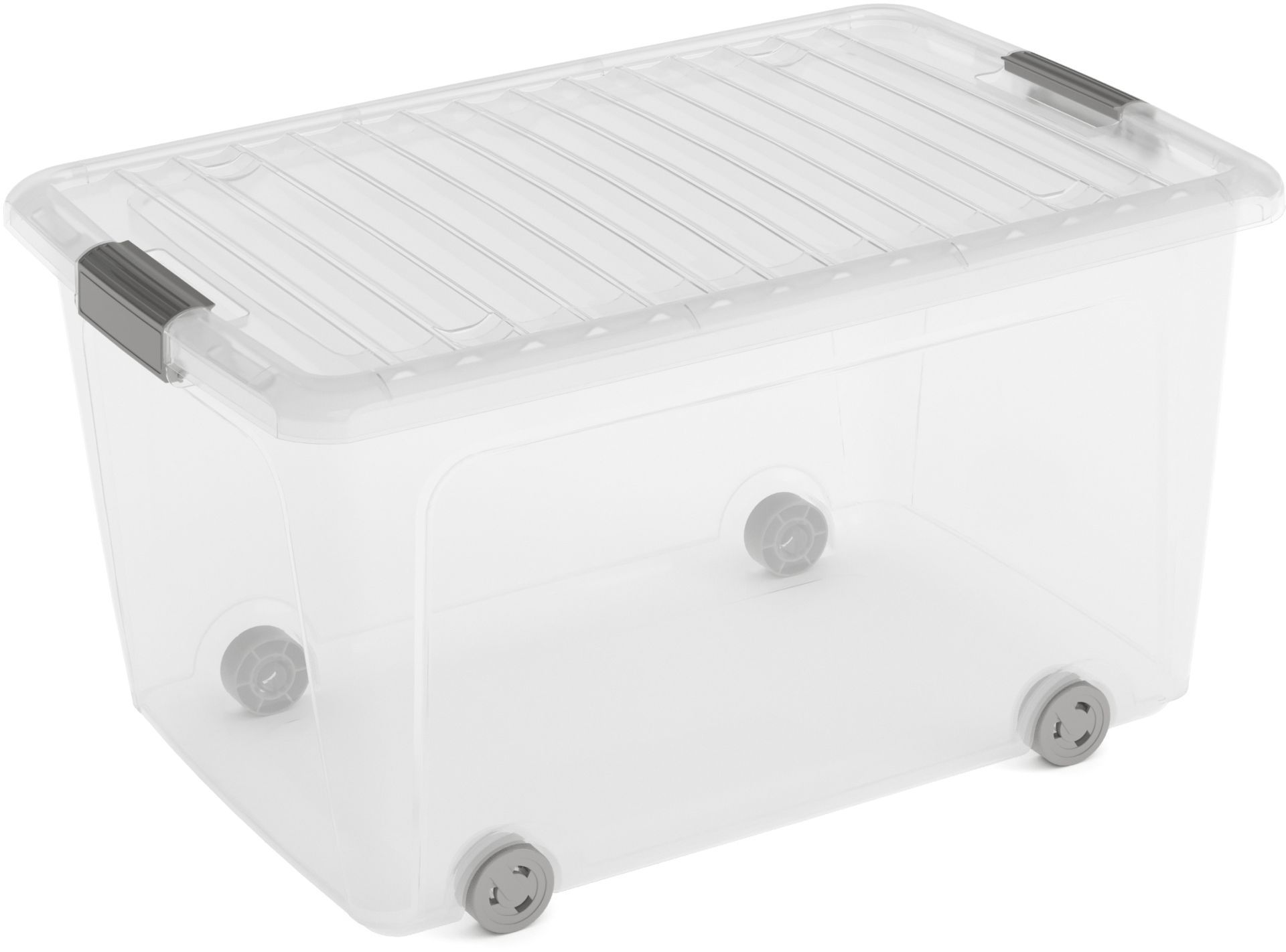 KIS W BOX L 50L 59x39x32cm transparent/světle šedá