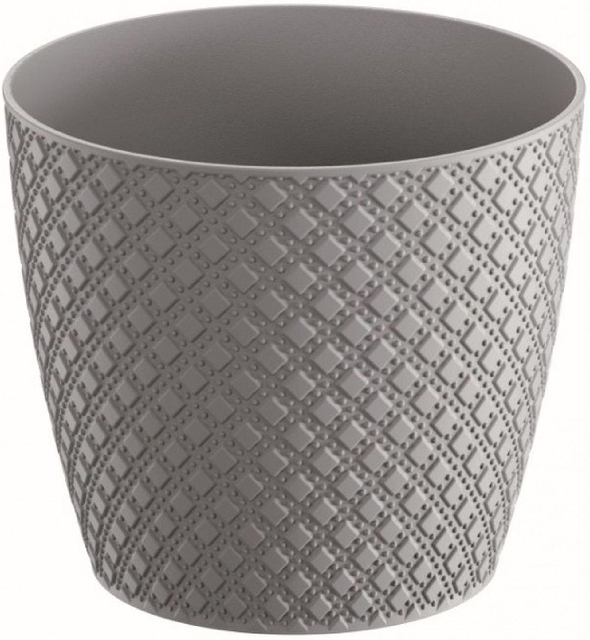 Prosperplast ORIENT Květináč 12,8 cm, šedý kámen DOR130