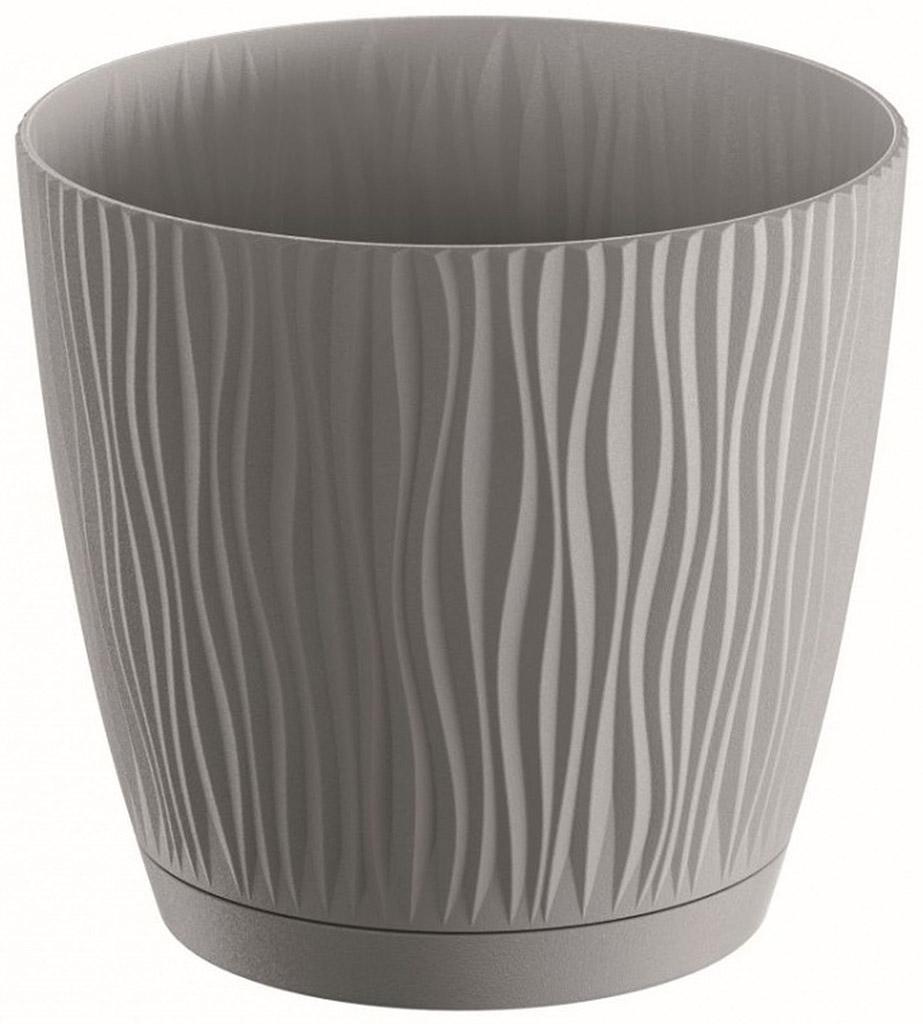 PROSPERPLAST SANDY P Květináč 12,9 cm, šedý kámen DSY130P