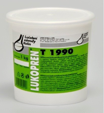 LUKOPREN T1990 plastický silikonový tmel 1 kg, šedá