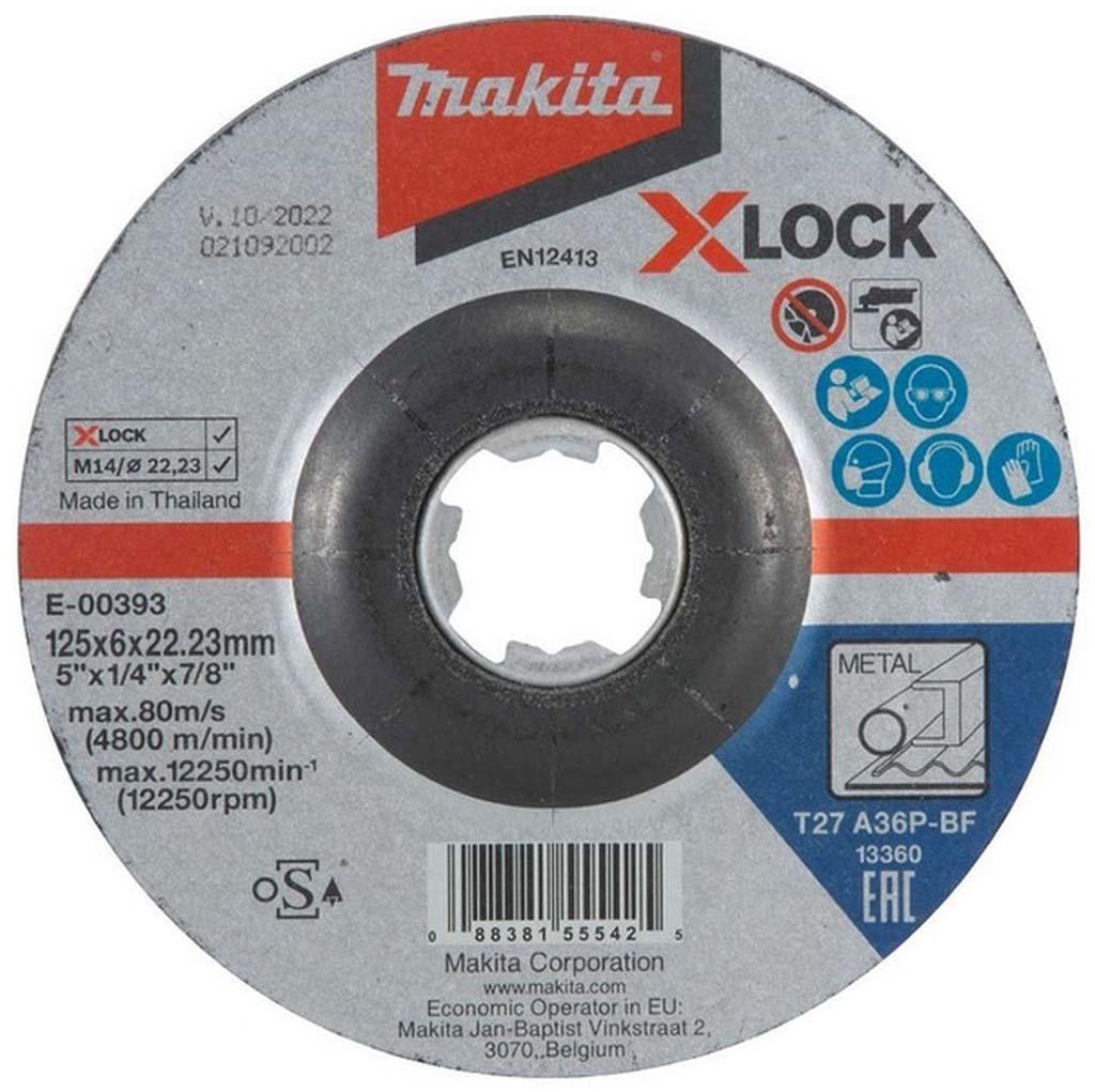 MAKITA E-00393 X-Lock Brusný kotouč na kov 125x6mm