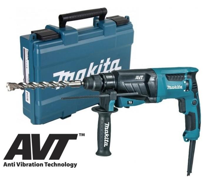 MAKITA HR2631FT Kombinované kladivo s AVT a výměnným sklíčidlem 2,4J, 800W