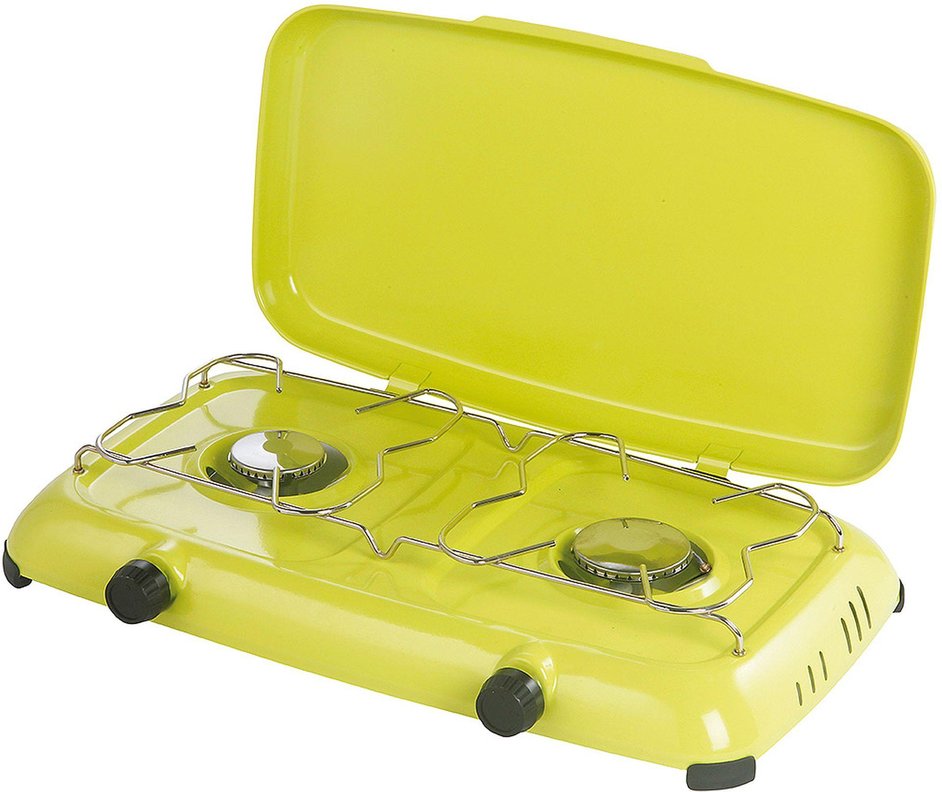 MEVA plynový vařič ORLÍK, termopojistka + víko, nízkotlaký,zelený 2316