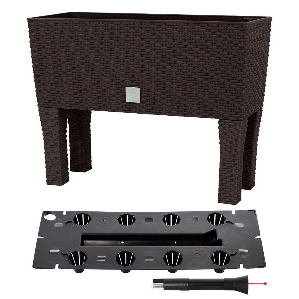 Prosperplast RATO CASE HIGH Truhlík+zavlažovací systém 60x25x46cm umbra DRTC600H