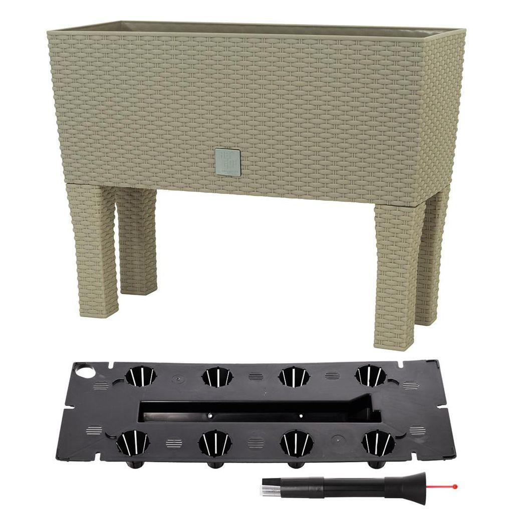 Prosperplast RATO CASE HIGH Truhlík+zavlažovací systém 60x25x46cm mocca DRTC600H