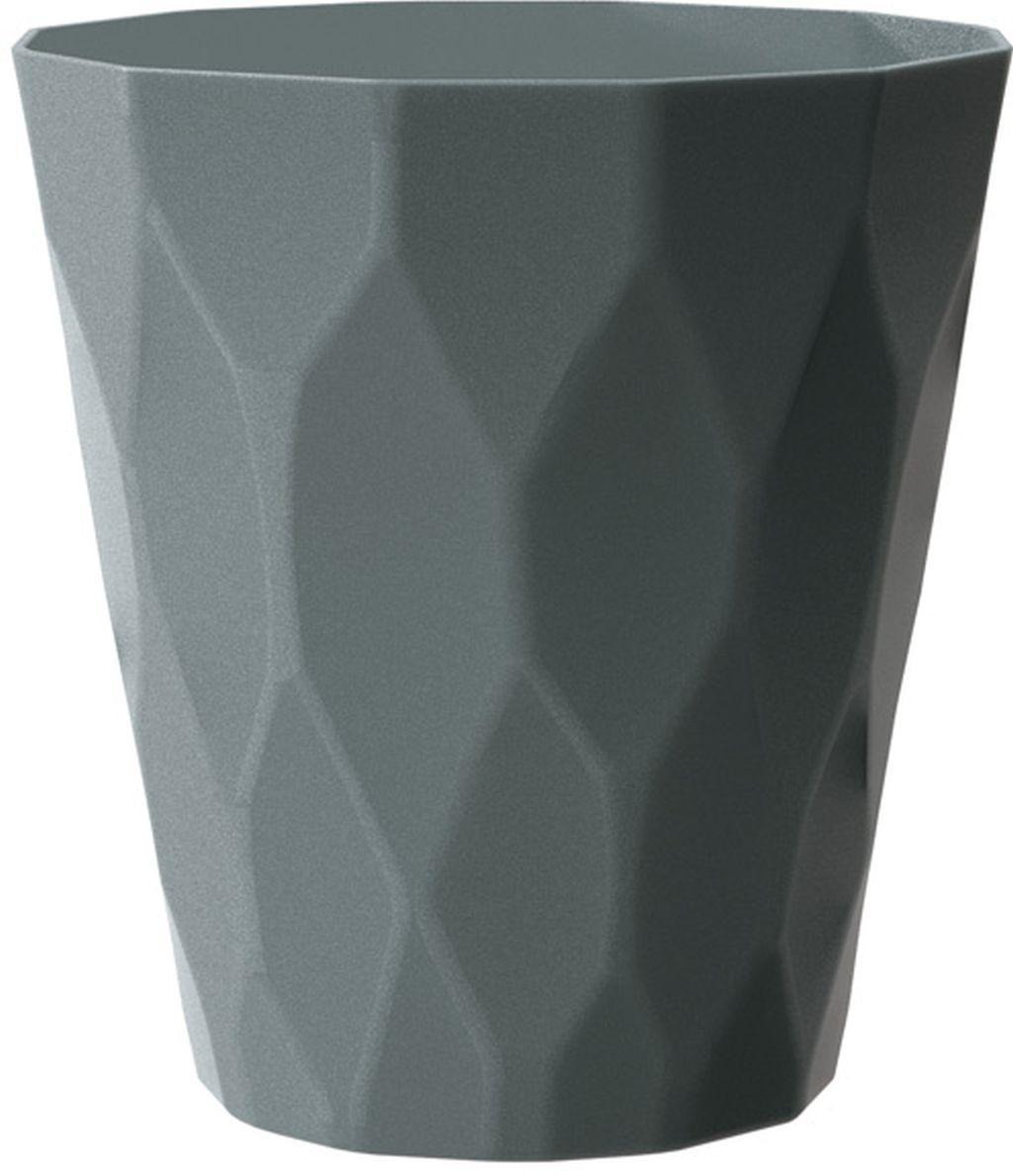 PROSPERPLAST ROCKA Květináč 14 cm, šedý kámen DROC140