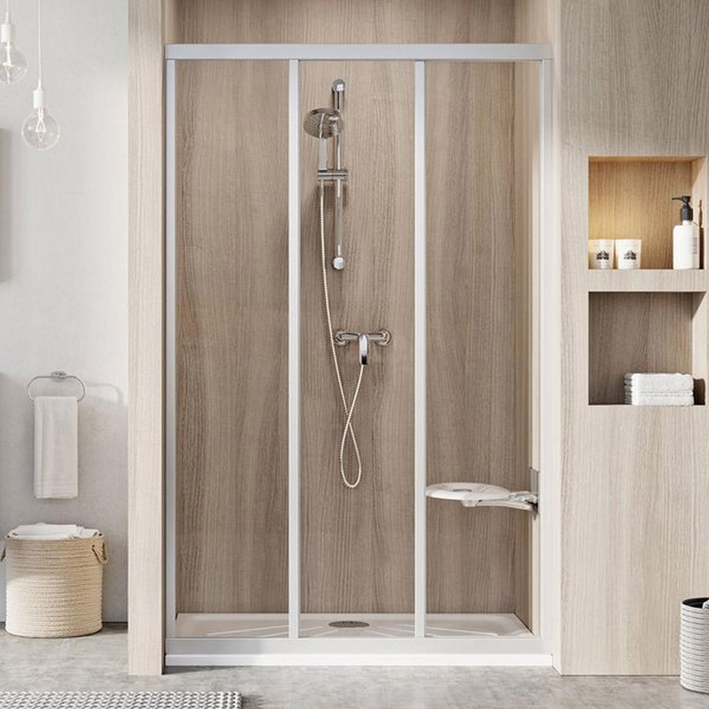 RAVAK SUPERNOVA ASDP3-110 sprchové dveře posuvné, white+pearl 00VD010211
