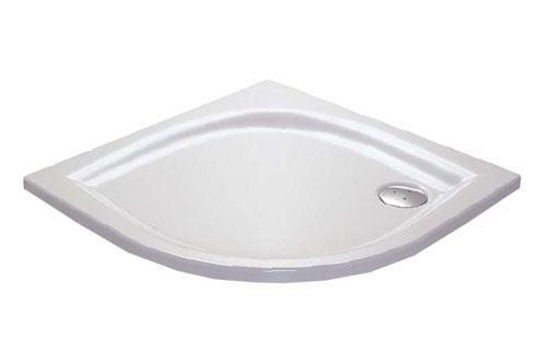 RAVAK GALAXY ELIPSO 100 LA čtvrtkruhová sprchová vanička 100x100 cm A22AA01210