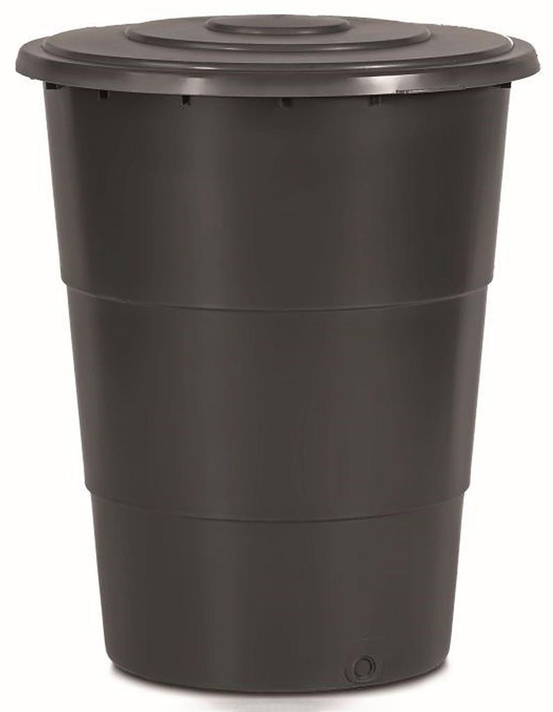 Prosperplast CLASSICAN Sud na dešťovou vodu s víkem 200l, antracit IDET200