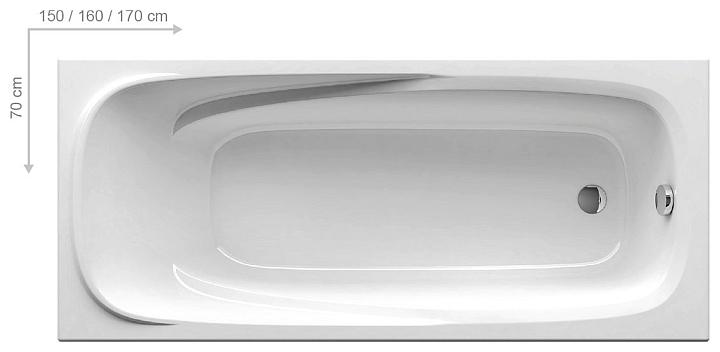 RAVAK VANDA II Vana 150x70 snowwhite CO11000000