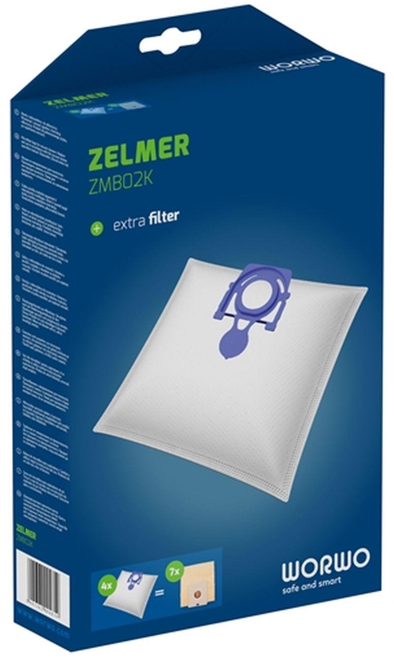 ZELMER sáčky do vysavače z mikrovlákna se vstupním filtrem 4ks ZMB02K
